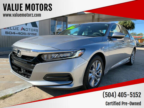 2018 Honda Accord for sale at VALUE MOTORS in Kenner LA