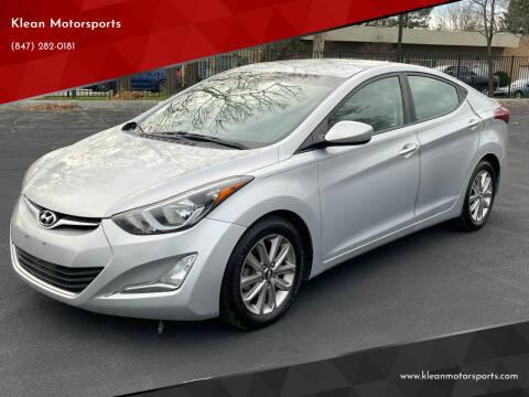2015 Hyundai Elantra for sale at Klean Motorsports in Skokie IL