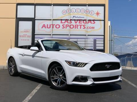 2017 Ford Mustang for sale at Las Vegas Auto Sports in Las Vegas NV