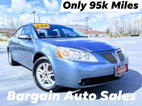 2006 Pontiac G6 for sale at Bargain Auto Sales LLC in Garden City ID