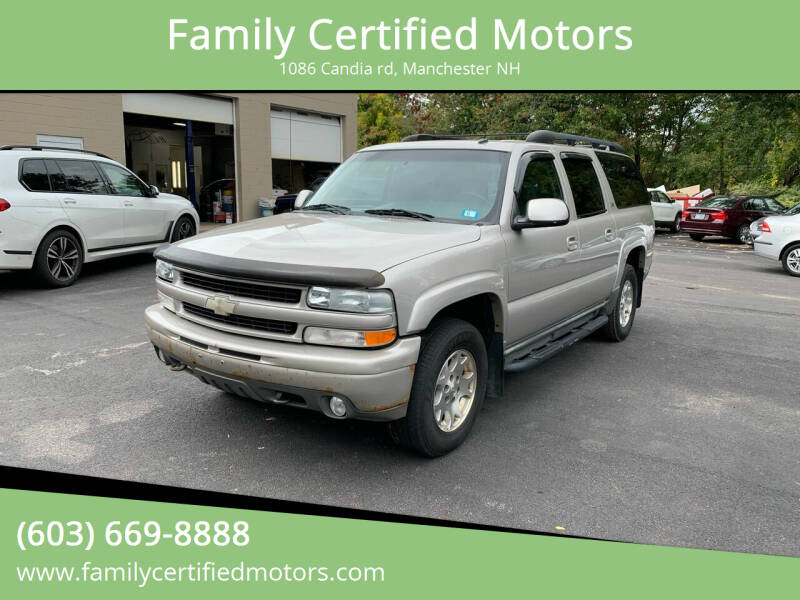 2004 Chevrolet Suburban for sale at Family Certified Motors in Manchester NH