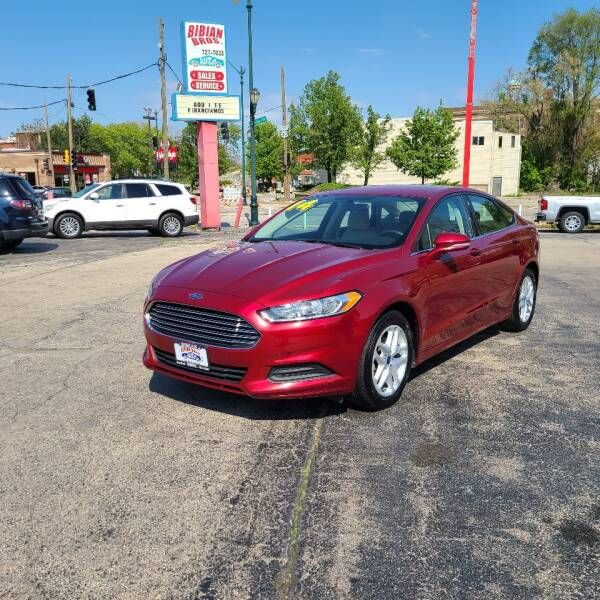 2014 Ford Fusion for sale at Bibian Brothers Auto Sales & Service in Joliet IL
