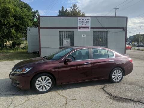 2013 Honda Accord for sale at Richland Motors in Cleveland OH