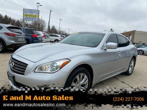 2012 Infiniti M37 for sale at E and M Auto Sales in East Dundee IL