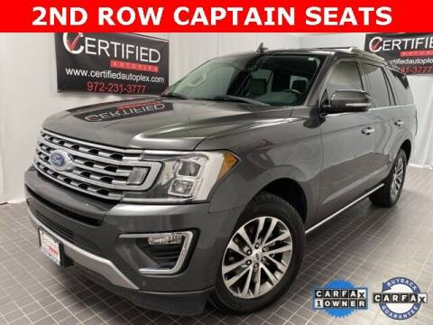2018 Ford Expedition for sale at CERTIFIED AUTOPLEX INC in Dallas TX