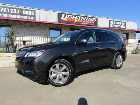 2016 Acura MDX for sale at Lightning Motorsports in Grand Prairie TX