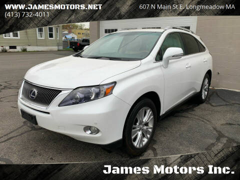 2010 Lexus RX 450h for sale at James Motors Inc. in East Longmeadow MA