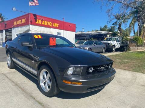 2007 Ford Mustang for sale at 3K Auto in Escondido CA