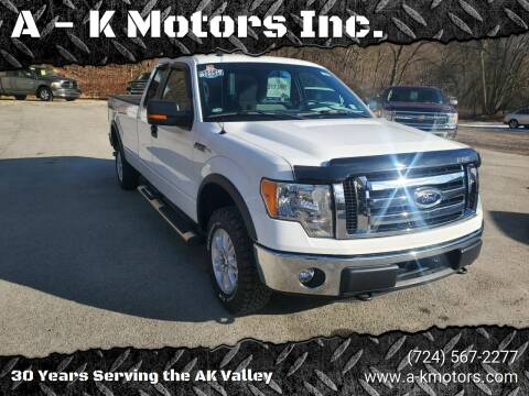 2012 Ford F-150 for sale at A - K Motors Inc. in Vandergrift PA