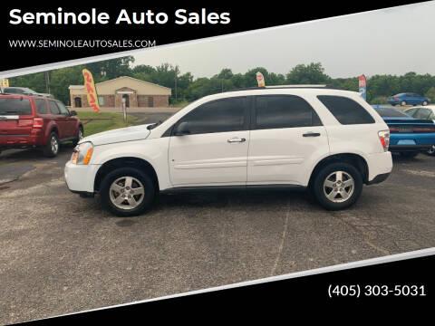 2008 Chevrolet Equinox for sale at Seminole Auto Sales in Seminole OK