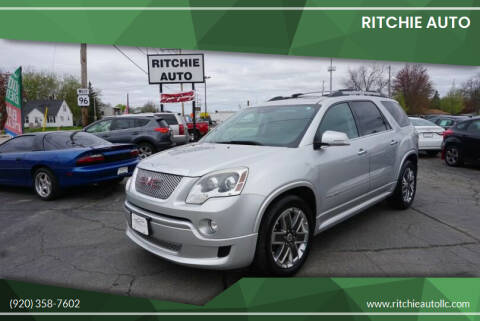2012 GMC Acadia for sale at Ritchie Auto in Appleton WI