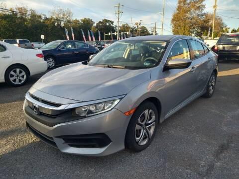 2016 Honda Civic for sale at P J McCafferty Inc in Langhorne PA