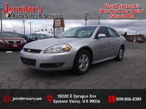 2010 Chevrolet Impala for sale at Jennifer's Auto Sales in Spokane Valley WA