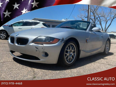 2004 BMW Z4 for sale at Classic Auto in Greeley CO