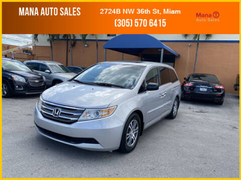 2012 Honda Odyssey for sale at MANA AUTO SALES in Miami FL