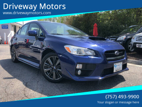 2017 Subaru WRX for sale at Driveway Motors in Virginia Beach VA