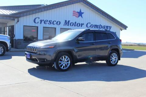 2015 Jeep Cherokee for sale at Cresco Motor Company in Cresco IA