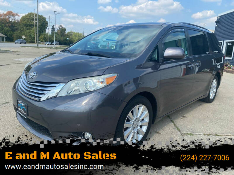 2012 Toyota Sienna for sale at E and M Auto Sales in Elgin IL