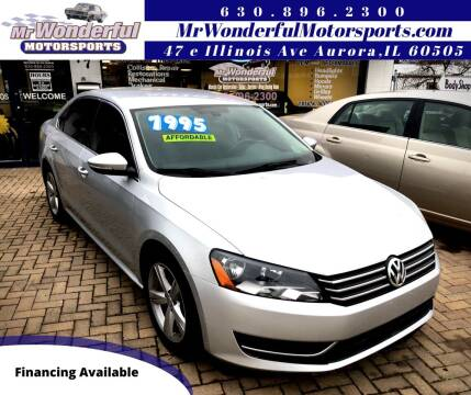 2012 Volkswagen Passat for sale at Mr Wonderful Motorsports in Aurora IL