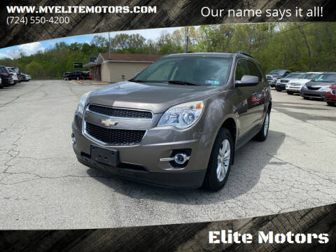 2012 Chevrolet Equinox for sale at Elite Motors in Uniontown PA