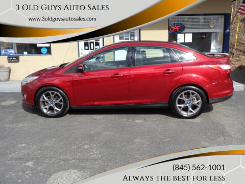 2013 Ford Focus for sale at 3 Old Guys Auto Sales in Newburgh NY