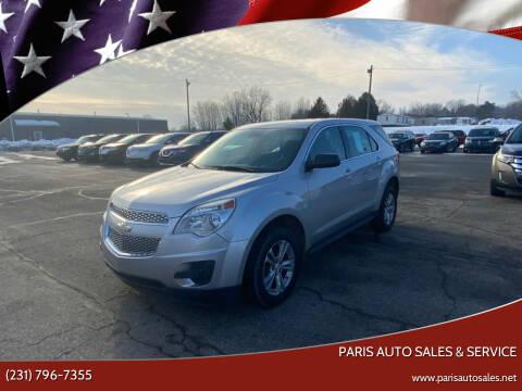 2013 Chevrolet Equinox for sale at Paris Auto Sales & Service in Big Rapids MI