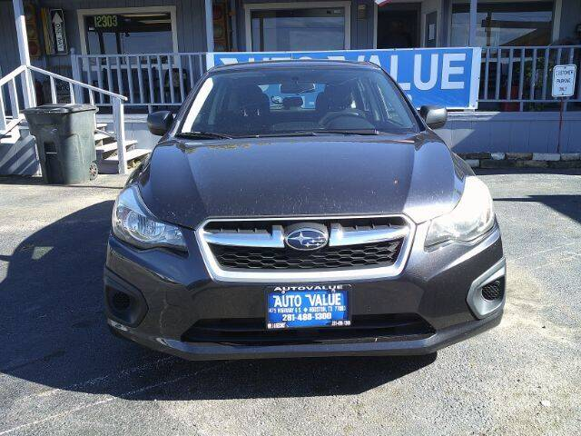 2013 Subaru Impreza for sale at AUTO VALUE FINANCE INC in Stafford TX