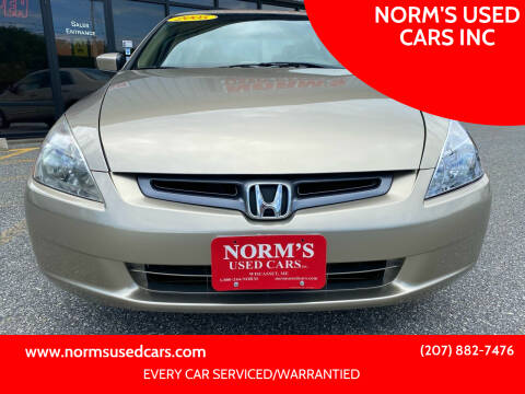 2005 Honda Accord for sale at NORM'S USED CARS INC in Wiscasset ME