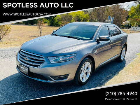 2014 Ford Taurus for sale at SPOTLESS AUTO LLC in San Antonio TX