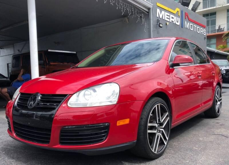 2009 Volkswagen Jetta for sale at Meru Motors in Hollywood FL