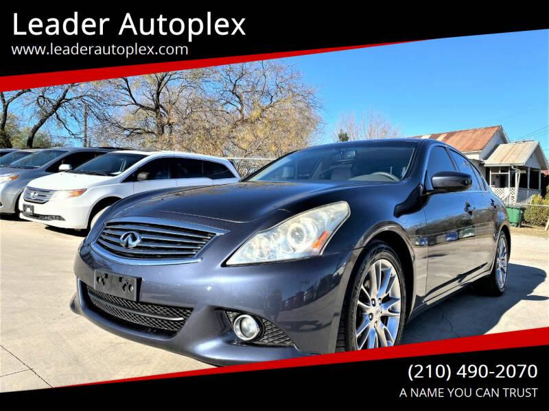 2011 Infiniti G37 Sedan for sale at Leader Autoplex in San Antonio TX
