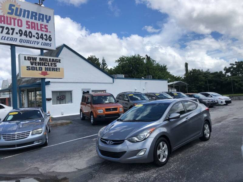 2013 Hyundai Elantra for sale at Sunray Auto Sales Inc. in Holiday FL