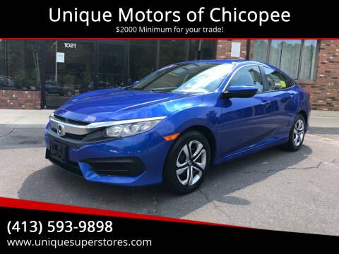 2018 Honda Civic for sale at Unique Motors of Chicopee in Chicopee MA