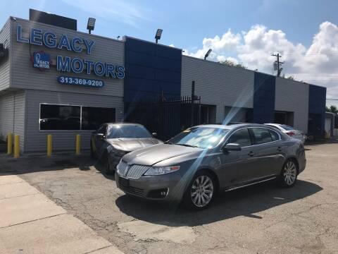 2012 Lincoln MKS for sale at Legacy Motors in Detroit MI