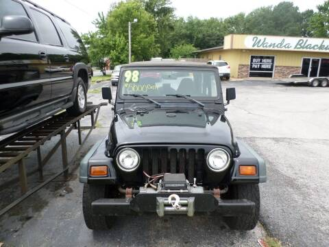 1998 Jeep Wrangler for sale at Credit Cars of NWA in Bentonville AR
