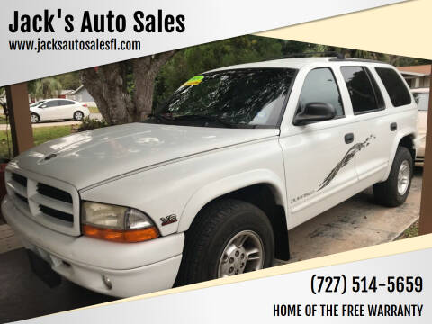 2000 Dodge Durango for sale at Jack's Auto Sales in Port Richey FL