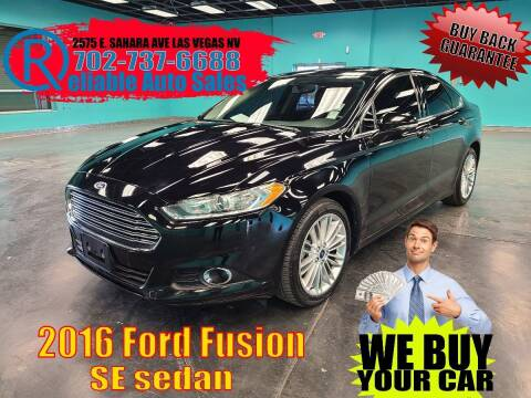 2016 Ford Fusion for sale at Reliable Auto Sales in Las Vegas NV