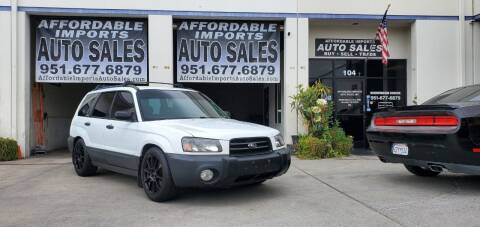 2003 Subaru Forester for sale at Affordable Imports Auto Sales in Murrieta CA