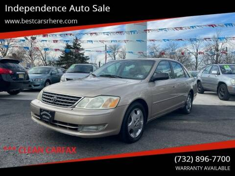 2003 Toyota Avalon for sale at Independence Auto Sale in Bordentown NJ