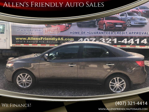 2012 Kia Forte for sale at Allen's Friendly Auto Sales in Sanford FL