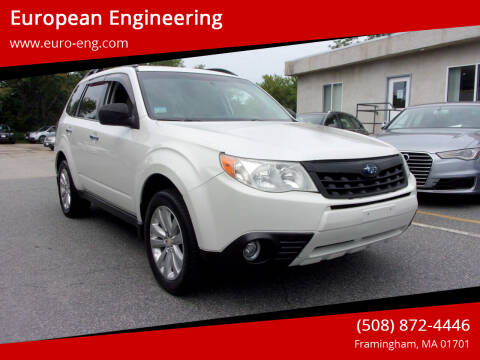 2013 Subaru Forester for sale at European Engineering in Framingham MA