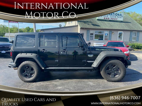 2012 Jeep Wrangler Unlimited for sale at International Motor Co. in St. Charles MO