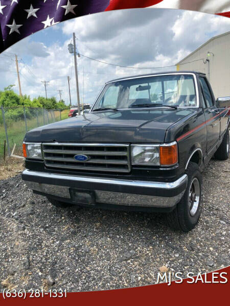 1989 Ford F-150 for sale at MJ'S Sales in O'Fallon MO