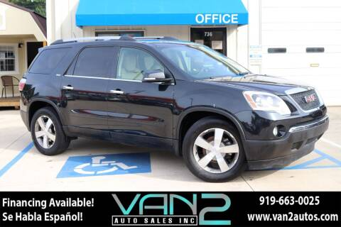 2011 GMC Acadia for sale at Van 2 Auto Sales Inc in Siler City NC