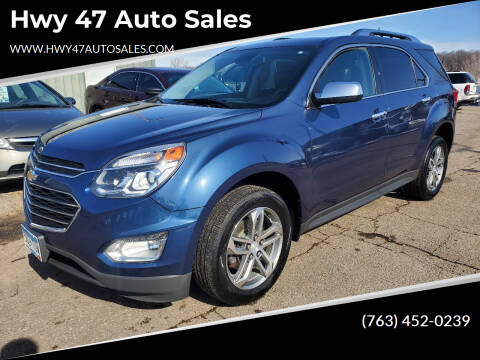 2016 Chevrolet Equinox for sale at Hwy 47 Auto Sales in Saint Francis MN
