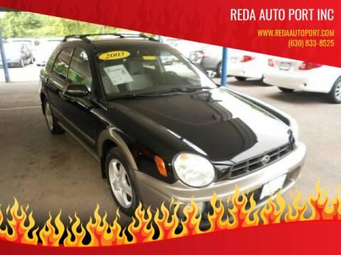 2003 Subaru Impreza for sale at REDA AUTO PORT INC in Villa Park IL