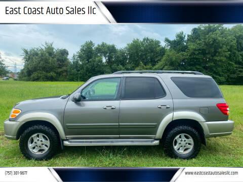 2004 Toyota Sequoia for sale at East Coast Auto Sales llc in Virginia Beach VA