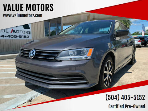 2016 Volkswagen Jetta for sale at VALUE MOTORS in Kenner LA
