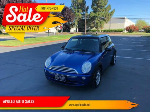 2005 MINI Cooper for sale at APOLLO AUTO SALES in Sacramento CA