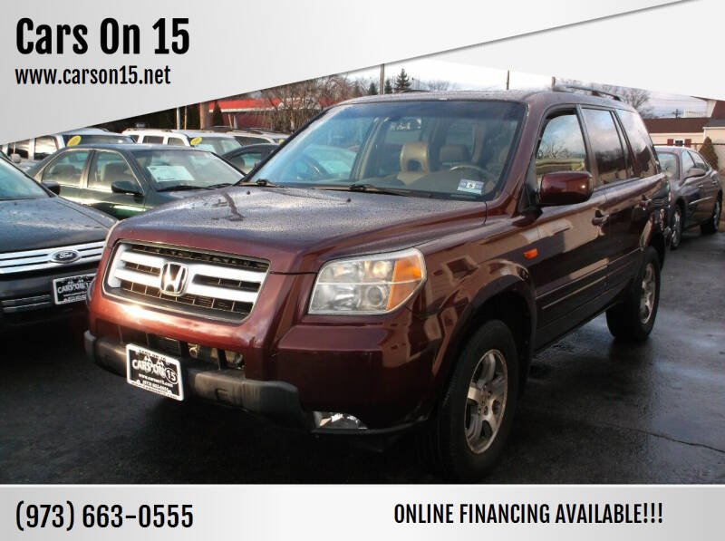 2008 Honda Pilot for sale at Cars On 15 in Lake Hopatcong NJ